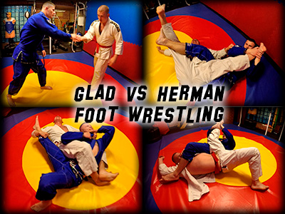 Glad vs Herman Foot Wrestling