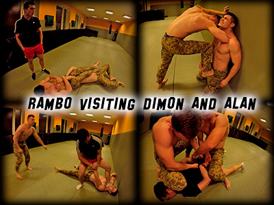 Rambo visiting Dimon and Alan