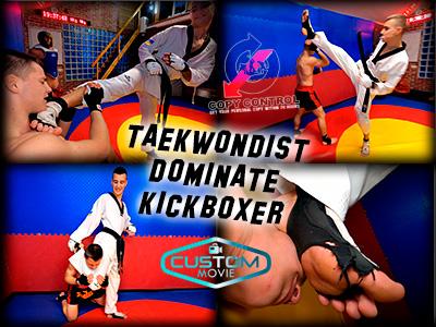 Taekwondist Dominates Kickboxer