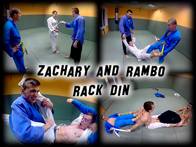Zachary and Rambo Rack Din